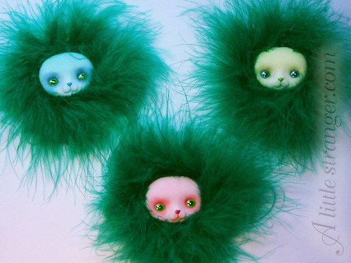 Fluffy Bunny Brooches