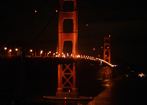 pictures of the golden gate bridge at night. Golden Gate Bridge at night
