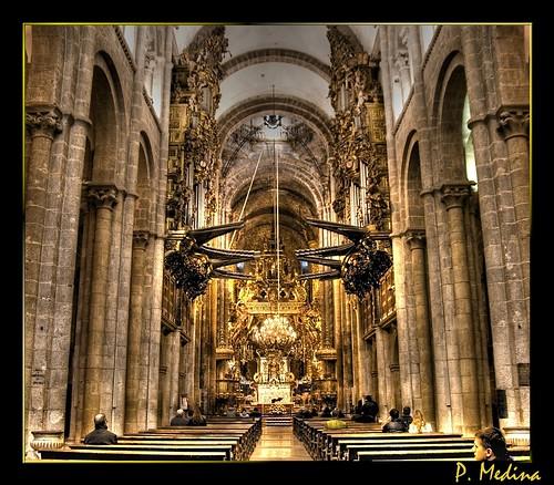 Catedral de Santiago vista interior en HDR