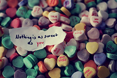 Sweet Sweet Love ({peace&love}) Tags: blue white green love yellow writing paper is words colorful day purple candy heart you sweet text note valentines nothing truelove allmine pinkparis1233