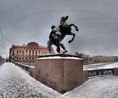 Pont Anitchkov - Saint-Pétersbourg - 15-02-2009 - 9h06
