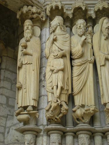 sculptures at Chartes