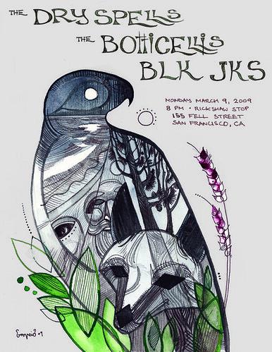 The Dry Spells . The Botticellis . BLK JKS Poster