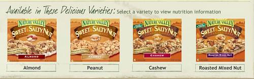 Nature Valleys Sweet & Salty Flavors