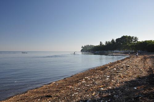 Garbage on Lovina Beach
