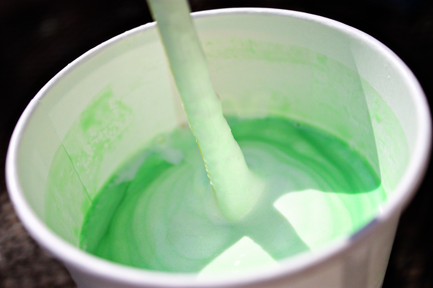 shamrock shake, colors not adjusted. it's really that green