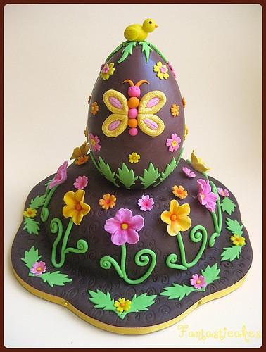 Torta Uovo di Pasqua decorato / Easter Egg Cake