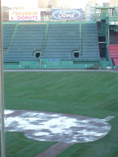 Fenway Park Tour: The red seat far up in the bleachers is where ...