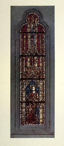 010- Santa Margarita- vitral oeste del pasillo norte de la nave- York Minster siglo XIV