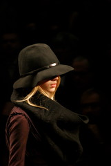 (Micl G.Riva) Tags: girl fashion hair model milano moda blonde 2009 cappello burberry fashionweek febbraio