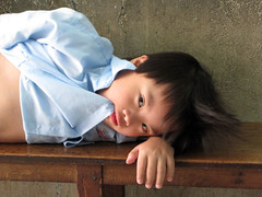 Feeling Down (FauxToh) Tags: school downs child down vietnam syndrome