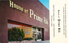 House of Prime Rib San Francisco (hmdavid) Tags: sanfrancisco vintage restaurant postcard houseofprimerib 1949