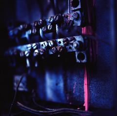 Pink Power (skinner08) Tags: colour 6x6 analog rolleiflex t explore kiel abendlicht tessar mittelformat mllverbrennungsanlage rolleinar3 kodakektar100 laborentwicklung