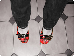 Day 136 / 365 (Giusi-gurL) Tags: red cute feet rock amazing shoes punk flats ps 365 plaid straps buckles 365days
