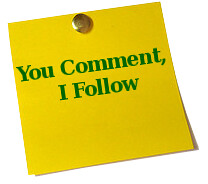You Comment I Follow