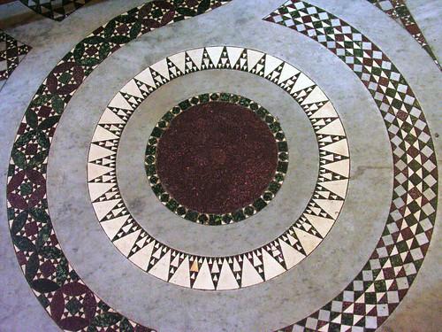 Cosmati floor in Santa Maria in Trastevere