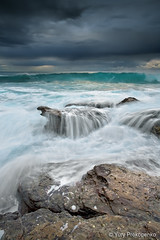 Angry Ocean (-yury-) Tags: ocean sea sky beach water clouds rocks sydney wave australia nsw angry avalon abigfave krishlikesit