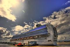 Crown Princess is back... (conory) Tags: cruise sea vacation holiday water liverpool river boat big ship cruising cruiseship abfab liner merseyside cruiseliner crownprincess bigboat rivermersey