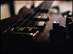 My Bass (Michael Ashton) Tags: film 35mm canon bass guitar f1 fender precision custom delux lyte