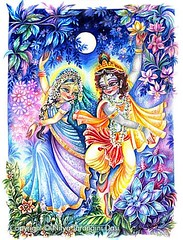 ISKCON desire tree - Radha and Krishna Dance Together on a Glorious full Moon Night (ISKCON Desire Tree) Tags: demon krishna radha vrndavana balaram iskcon putana devaki radharani kamsa bakasura aghasura