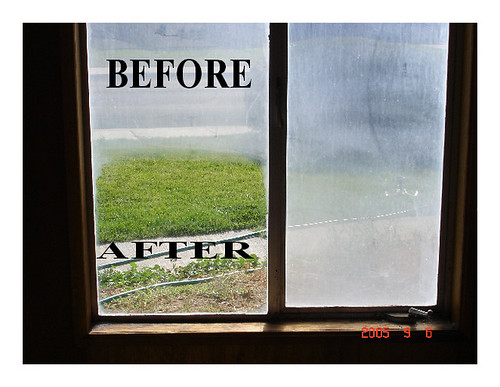 befor & after Window cleaning