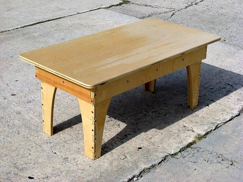 modern coffee table end table designer: Joe Manus
