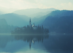 lake bled revisit (impossible soul) Tags: sun mountain church water island slovenia bled lakebled explored
