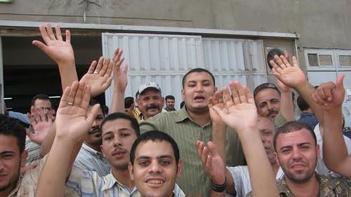 اضراب عمال مصنع ابوالسباع فى المحلة ABUESBA,E FACTORY WORKERS STRIKE IN MAHALLA by you.