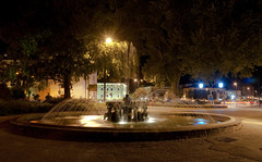 The salient fountain (nirmala176) Tags: church water lights dante bynight chiesa sprinkles luci acqua fontana notte foutain salient viale spruzzi pergine francescani saliente flickraward