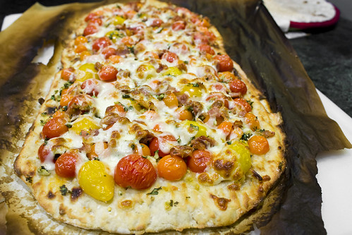 Whole Cherry Tomato Pizza