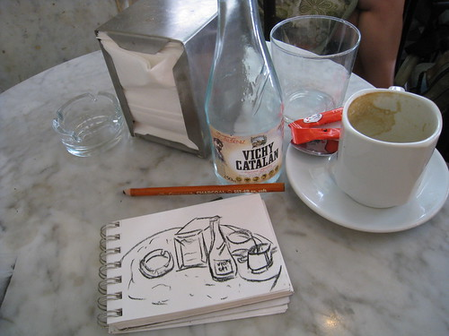 drawing to go with the flow in Spain