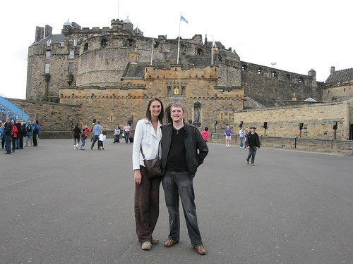Suzy and Tony at Edinburgh Castle