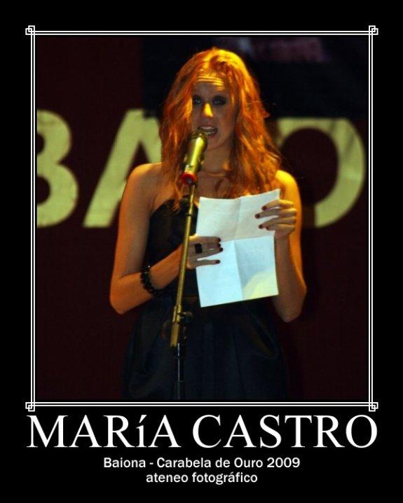 María Castro. Baiona - Carabela de Ouro 2009