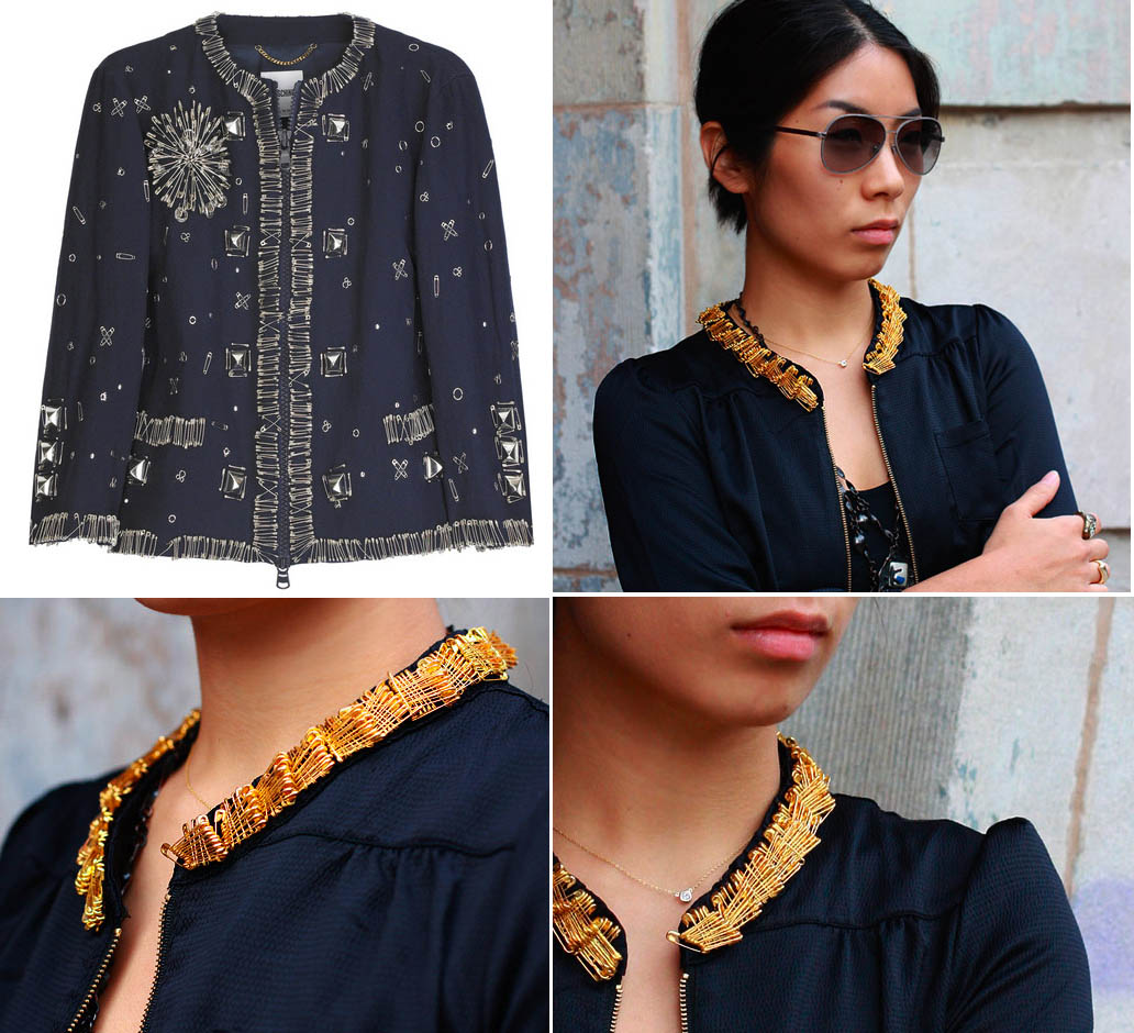 Safetypin DIY jacket by Style Copycat