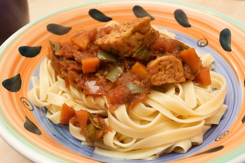 pasta cacciatore from vegan planet