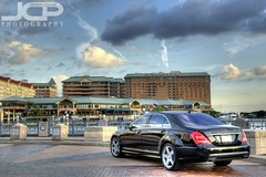 Mercedes S-550 at Riverwalk (Jason Collin) Tags: sky car clouds tampa mercedes benz downtown florida hdr riverwalk merc s550 nikond300 tamronaf1750mmf28xrdiii westinharbourisland