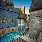 Idyllic Streets of Mont Saint Michel