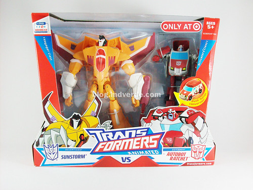 Transformers Sunstorm Animated Voyager & Ratchet Activators - caja