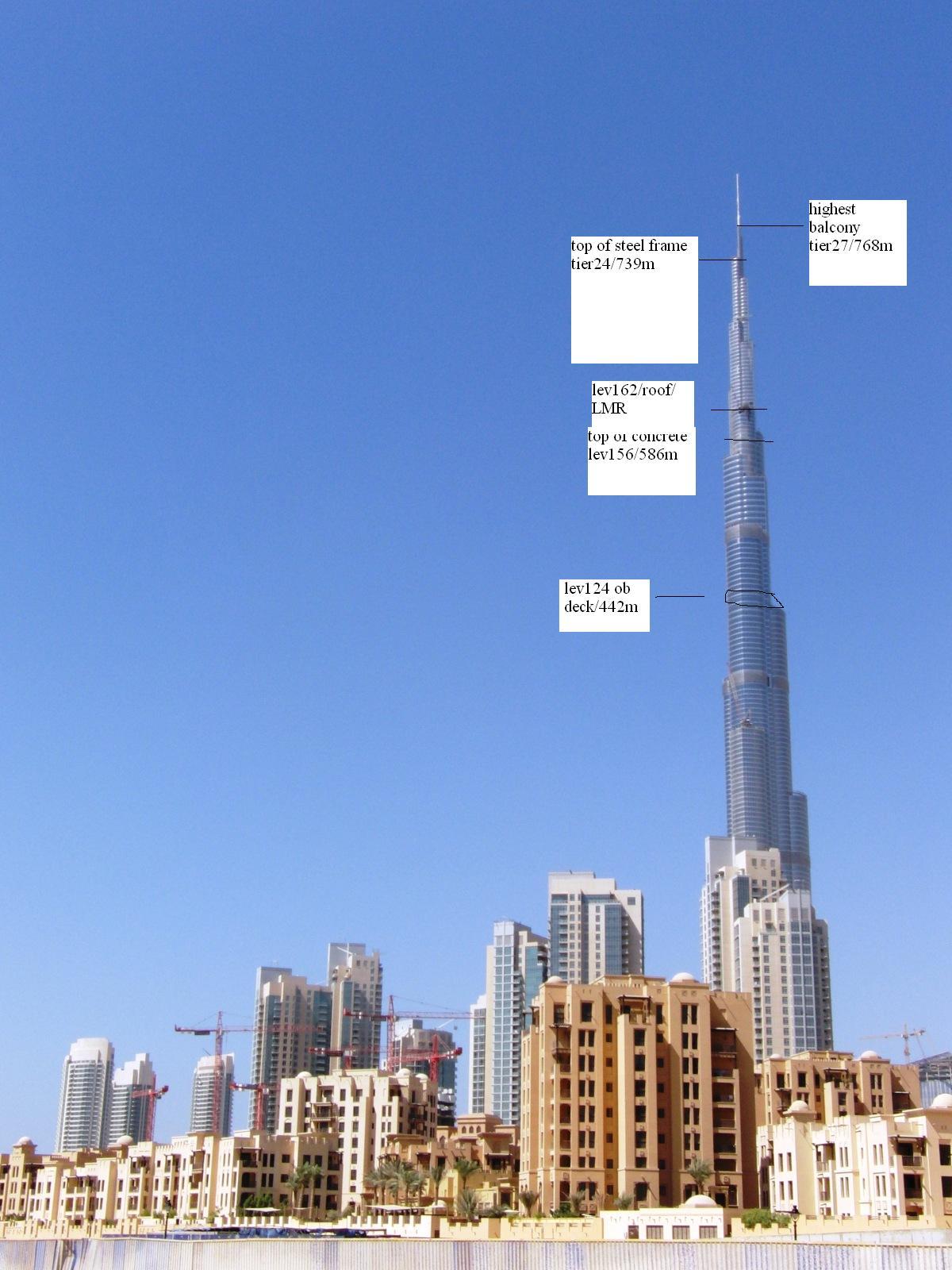 Burj Dubai Height C O