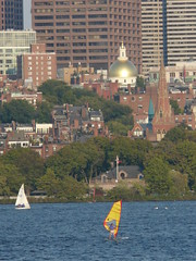 Politics, sailing...I could live with this (Roadgoer) Tags: usa boston ma golden sailing state massachusetts charlesriver sails newengland capitol dome beaconhill statehouse