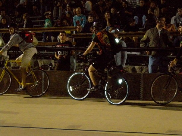 Montague DX crossover folding bike at the Velodrome!