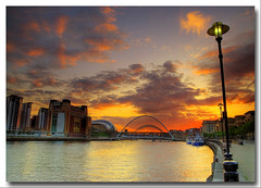 A NIGHT OF ORANGE (Steve Boote..) Tags: sunset england music river newcastle dusk arts bridges millenium baltic sage tyne gateshead northumbria venue northeast hdr gitzo swingbridge highlevel photomatix sigma1770 samsunggx20 steveboote