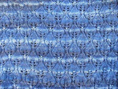 Pluto Woodland shawl WIP