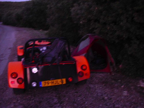 Camping by the roadside