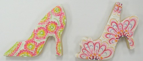 [Image from Flickr]:Show Girl Shoe cookies