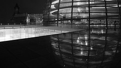 Rainy Reichstag Dome (badobaz) Tags: reflection berlin rain night reichstag lx5