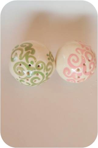 pink &green    Soap flakes Ceramic Fragrance ball by ooty