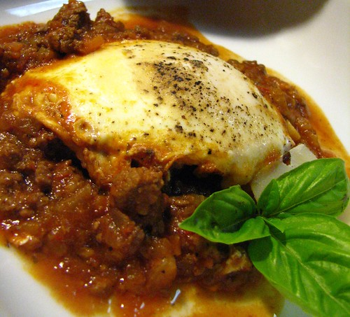 eggs in ragu