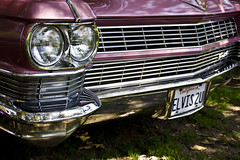 Elvis Lives (Maureen Bond) Tags: ca pink classic lines car vintage purple elvis plate cadillac grill explore chrome license headlight 1964 flickrlovers maureenbond