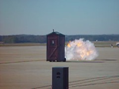 Fast Porta-Potty (blazer8696) Tags: show 2004 nc video force sony air wayne johnson northcarolina cybershot airshow seymour base gsb sandysprings goldsboro irongate dscf707 t2004 mov02472